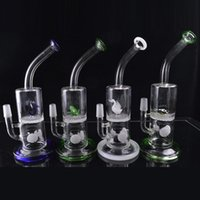 Wholesale Turtle Oil - Heady Beaker Bong Thick Recycler Oil Dab Rigs Dolphins Frogs Turtles Swan Animal Hookahs Mini Showerhead to Honeycomb Perc Glass Water Pipes