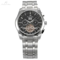 Wholesale Navigator Case - KS NAVIGATOR Series Tourbillon Date Month Display Transparent Case Back Luxury Stainless Full Steel Men Mechanical Watch   KS195