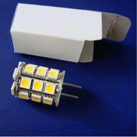 Wholesale Halogen 12v 35w Bulb - Led G6.35 2700K Lamp Lighting Bulb 12VAC 12VDC 24VDC 27LED of 5050SMD 4W To Replace 35W Halogen