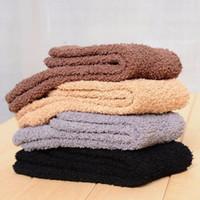Wholesale Mens Bedding - Mens Fluffy Socks Cashmere Socks Slipper Bed Socks Thermal Cosy Socks