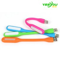 Barato Mesa Clara Brilhante-Mini USB LED Light Flexible Portable 5V 1.2W Glow lâmpada de mesa de leitura brilhante para Power Bank Computer Nightlight