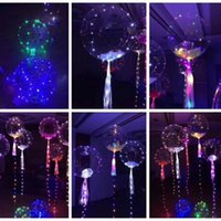 LED Light Up Giocattoli LED luci Stringa Flasher Lighting Palloncino Onda Ball 18inch Helium Palloncini Christmas Halloween Decoration Gift