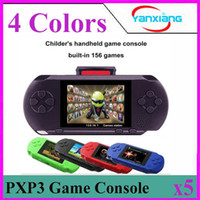 Wholesale Gift Video Player - 5PCS 16 Bit Video Games Player PXP3 Slim Station Pocket Game Handheld Game Console+Dual sim Card+ Gift Box! YX-PXP3