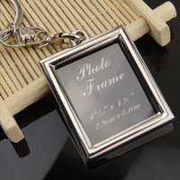 Wholesale Blank Metal Keyring - Zinc Alloy Blank Photo Frame Keychain Metal Keyring 6 Patterns DIY Yourself Photo Keychains Couple Gift Lover Gift Promotion Gift