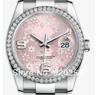 Wholesale 36mm watch wrist resale online - High quality Pink flower Crystal unisex new arrivel Automatic Mechanical Wrist Watch mm gift