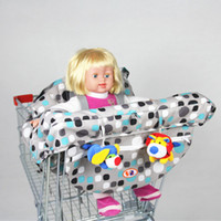 Wholesale Portable Feeding High Chair - 2016 Baby shopping cart trolley cover infant car mats child portable high dining chair seat belts pad for feeding prote Shopping Cart Covers