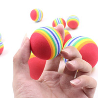 Wholesale ball toys for cat for sale - Pet Rainbow Ball Round EVA Plush Toy Cartoon For Dog And Cat Molar Chews Balls Toys Popular hz2 B