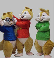 Wholesale Theme Park Mascot - Mascot Park Alvin Aad The Chipmunks Mascot Costume Fancy Dress Custom Fancy Costume Theme Mascotte Carnival Costume Kits