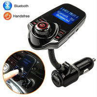Barato Kit De Carregador Kit Micro Usb-2016 Super Bluetooth Car Kit Handsfree Set Transmissor FM MP3 Player Automotivo 5V 2.1A carregador USB, Apoio às Micro SD Card 1G-32G