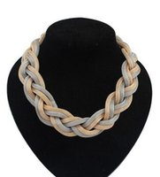 Wholesale Stylish Jewelry For Women - Stylish women necklaces Bohemian alloy weave chokers gifts for her jewelry for women
