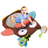 Wholesale plush bedroom carpets - Owl Shape Play Carpet Cartoon Kids Toys Soft Plush Rug Soft Newborn Baby Crawling Mats For Cute gq CW