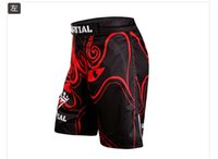 Wholesale Boxe Thai - Mma Boxe Short Muay Thai Warrior Ares Facebook Mma Shorts Digital Printing Breathable Original Authentic Waist Skid Stretch