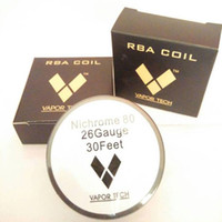 Wholesale Resistance Heating Wire Nichrome - E-cigarette Heating Wire Nichrome 80 Ni 80 Rebuild RDA Wire Vaportech NIchrome 80 Ecigs Resistance Nichrome 22 Gauge Coils Wire Spool