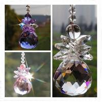 bolas de cristales de feng shui al por mayor-5 UNIDS Cristal de Cristal Feng Shui 30mm Bola Prisma Colgante Araña Colgante Decoración de La Boda Adorno Ventana W030-30mm