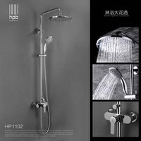 Wholesale Han Pai Brass Bathroom Hot And Cold Water Mixer Bath Shower Set Faucet torneira banheiro Air Injection Shower Head HP1102