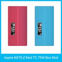 Wholesale Alloy Profile - 2016 hot Original Aspire NX75-Z Mod TC 75W Box Mod Child Lock New Customizable Firing Button Profiles (CFBP) Function Zinc-Alloy