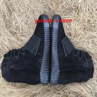 karartma ayakkabıları toptan satış-2016 yeni Erkek 750 Blackout Açık Havada Sneaker, indirim Ucuz Sıcak Satış 750 Ayakkabı, Kaykay Ayakkabı, Sneakeheads Ayakkabı Yüksek Ayakkabı