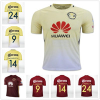 Wholesale Micky Shirt - Top Quality 2016 Mexico Club America Soccer Jerseys Home Yellow Away Red Blue 16 17 MICKY O.PERALTA SAMBUEZA D.BENEDETTO football Shirts
