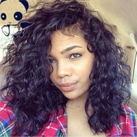 Wholesale Lace Wig Brazilian Curl - 7A Glueless Full lace wigs Brazilian Hair Deep Curl Lace Front Wig Human Hair for Black Women