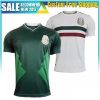 New 2018 Mexico Soccer Jersey Home Away 18 19 Green CHICHARITO Camisetas de  futbol Hernandez G DOS SANTOS football jerseys shirts ... c3f502f4053e5