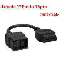 Wholesale Male Automotive Connector - OBD2 OBDII 17 Pin Male to Female 16 Pin Adapter Car Diagnostic Cable for Toyota Cables and Connectors