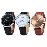 Wholesale Sinobi Male Watch - Sinobi 9140 Free Shipping Hot Sell Super Slim Casual Male Japan Quartz Watch Leather Wristband Analog Dials