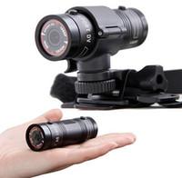 mini dv mp al por mayor-F9 Full HD 1080P cámara deportiva Cámara impermeable para motocicletas Casco Deportes al aire libre Cámara de acción Video DV Mini Videocámara