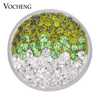 Wholesale Ginger Snaps Green - VOCHENG NOOSA 18mm Sugar Ginger Snap 4 Colors Bling Interchangeable Jewelry Vn-1053