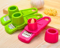 Wholesale Ginger Cooking - High quality Multi Functional Ginger Garlic Grinding Grater Planer Slicer Mini Cutter Cooking Tool Kitchen Utensils Kitchen Accessories