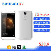 Hot Sale Low Cost MTK6580 5inch Marca chinesa fabricada na China Android Smart Mobile Phone 3G