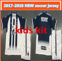 Wholesale Op Shorts - op quality kids kit new 2017 Monterrey Soccer Jersey 2017 2018 Mexico Club Monterey Soccer Shirt Customized Football uniform