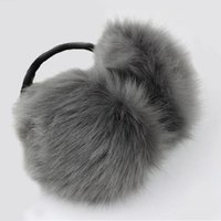 Wholesale Black Fox Earmuffs - Wholesale-Women earmuffs high quality imitation fox fur earmuff ear package female thermal plush earmuffs wool fashion keep warm in winter