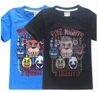 ropa de noche chicos al por mayor-2017 Ropa de verano para niños Camisetas de dibujos animados Five Nights At Freddy's Boys Ropa para niños Camiseta para niños 5 Freddys Tops3-12Year