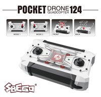 Wholesale Mini Gopro - SBEGO - 124 Mini Quadcopter Micro Pocket Drone 4CH 6Axis Gyro Switchable Controller RC Helicopter Kids Toys SBEGO FQ777-124 VS JJRC H37 TB
