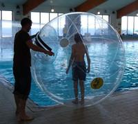 crianças de plástico para água pulverizada venda por atacado-Frete grátis bola de água, 0.8mm PVC bola inflável jogando na água, bola Zorb