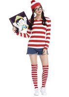 Wholesale Female Couples Costumes - Christmas t shirts men women t shirts costume cosplay performance theme costume men stripe christmas couple clothes