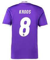 Wholesale Cheap Soccer Shirts Wholesale - Thai Quality Customized Away 16-17 8 KROOS Soccer Jerseys,discount Cheap 11 BALE Football Jerseys,Wholesale MENS 12 MARCELO Football Shirts