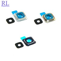 Wholesale Camera Lens Cover Holder - 100pcs lot New Camera Glass Lens Cover Frame Holder Replacement Parts For Samsung Galaxy S6 G920F S6 edge G925F S6 edge + plus G928F