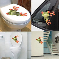 Wholesale Funny Car Graphics Stickers - 2017 Cute 3D Peep frog funny car stickers Truck Window Vinyl Decal Graphics Sticker Free Shipping