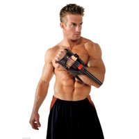 Wholesale Muscle Fitness Arms - Wholesale-Adjustable Wrist Machine Sports Forearm Hand Gripper Arm Muscle Strength Exerciser Gym Power Fitness Body Building Equipment