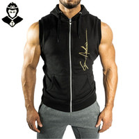 Wholesale Men S Clothing Discounts - Wholesale-Gym Boys Clothes Discount China Singlet Hoddie Casual High Quality Fashion Bodybuilding And Fitness Quotes Strong and handsome