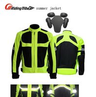 Wholesale Resistance Suits - 2016 men's summer fluorescein motorcycle riding jacket, Riding-Tribe Lucifer Yellow clothes motorcycle racing suits drop resistance
