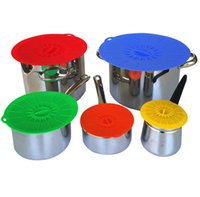 Wholesale food savers resale online - Silicone Practical Set Silicone Food Lids Family Food Saver Covers Silicone Fresh Cover Suction Lids For Bowls Cups Containers