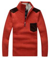Wholesale Turtle Neck For Men - Men's Warm Fleece Pullover Casual Knitwear Zip Sweater Pocket Hoodie sweatshirt Casual Hoodies For Autumn Winter