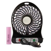 Wholesale Desktop Usb Air Conditioner - USB Mini Fan Portable Electric Fans LED Portable Rechargeable Desktop Fan Cooling air conditioner portable fan has a battery