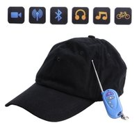 Wholesale Spy Cap Remote - Mini Video DV Spy Hat With Bluetooth MP3 Remote Camera Cap Hidden Pinhole DVR Video Recorder Camcorder Support TF Card