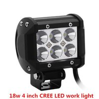 """Wholesale Cree Work Light 18 - 4"""" inch 18W Cree LED Work Light Bar For Jeep Offroad Car With Wiring Harness Kit"""