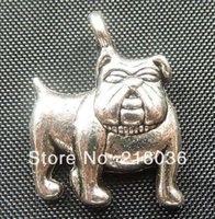 Wholesale Wholesale Tibetan Silver Dog Charms - Free Shipping Wholesale Fashion Vintage 100pcs Tibetan Silver Dog Charm Pendants DIY Jewelry Findings 18*13mm N1388