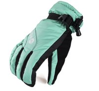 Wholesale Red Climbing Gloves - Female Windproof Winter Gloves Red or Blue Women Skiing or Snowboarding Gloves Outdoor Cycling Climbing Gloves Free Shipping 2016 Fashion
