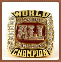 Wholesale Ali Jewelry - 2016 New Hot Selling 1964 1974 1978 Muhammad Ali Championship Ring Custom Sports Replica Jewelry For Fans